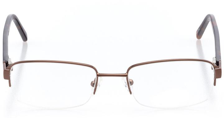 cincinnati: men's rectangle eyeglasses in brown - front view