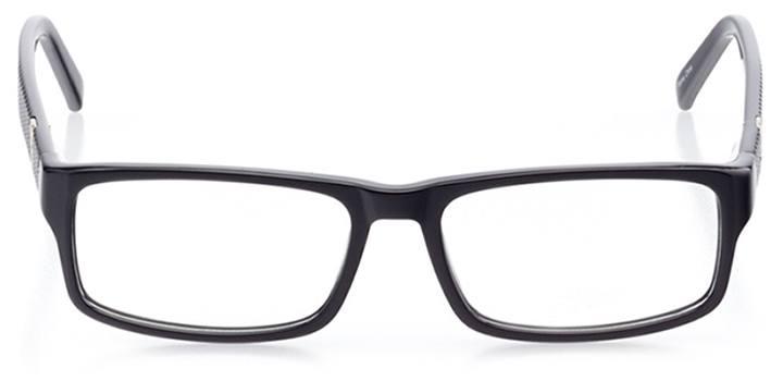 san antonio: men's rectangle eyeglasses in black - front view
