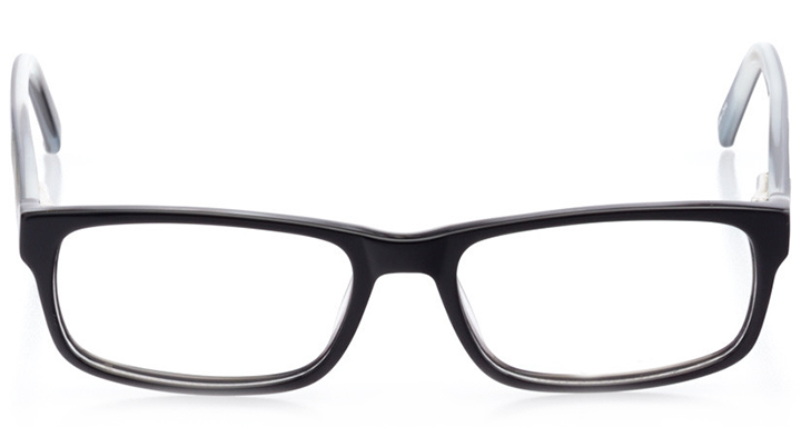 miami: men's rectangle eyeglasses in gray - front view