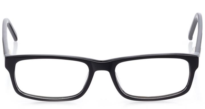 miami: men's rectangle eyeglasses in black - front view