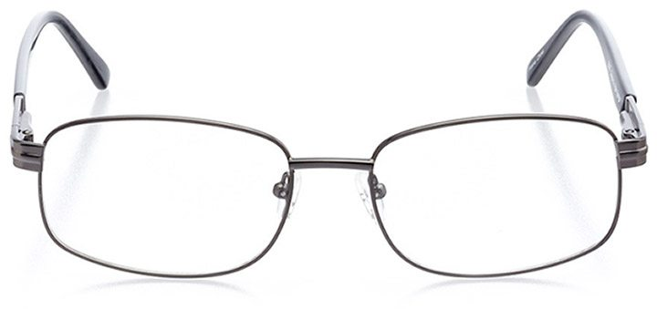 north port: men's rectangle eyeglasses in gray - front view