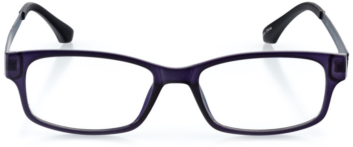 gainesville: rectangle eyeglasses in blue - front view