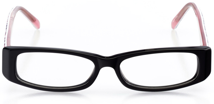 auburn: girls' rectangle eyeglasses in pink - front view