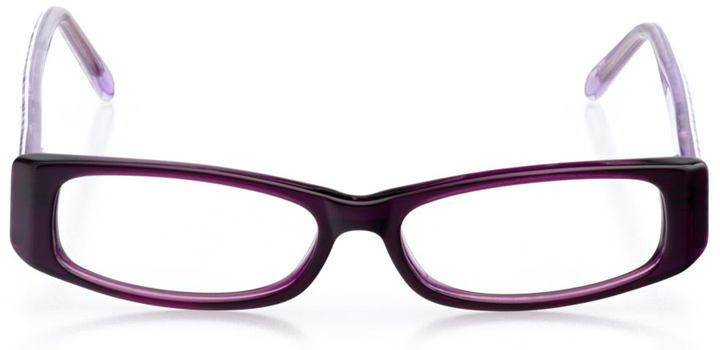 auburn: girls' rectangle eyeglasses in purple - front view