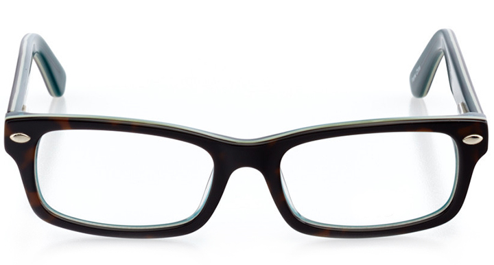 memphis: rectangle eyeglasses in tortoise - front view
