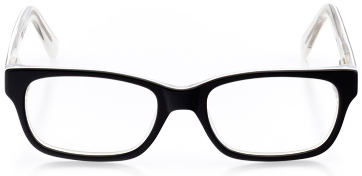 state college: rectangle eyeglasses in black - front view