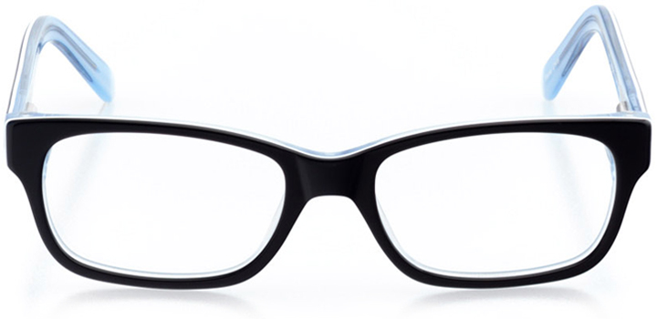 state college: rectangle eyeglasses in blue - front view