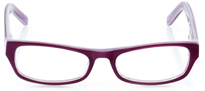 cambridge: girls' rectangle eyeglasses in purple - front view