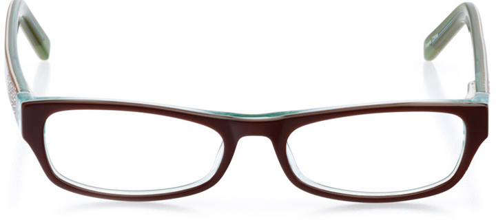 cambridge: girls' rectangle eyeglasses in brown - front view
