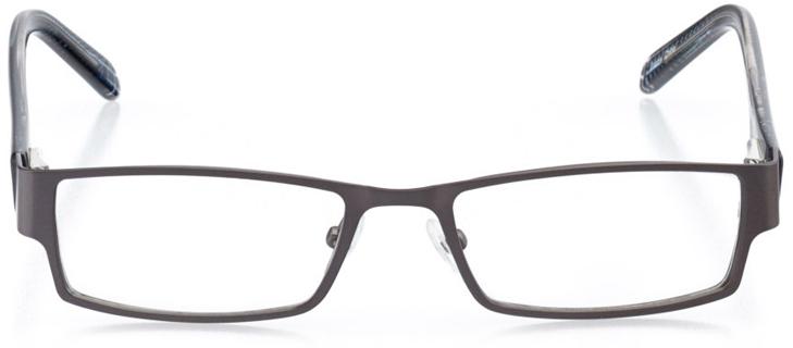 davenport: boys' rectangle eyeglasses in blue - front view