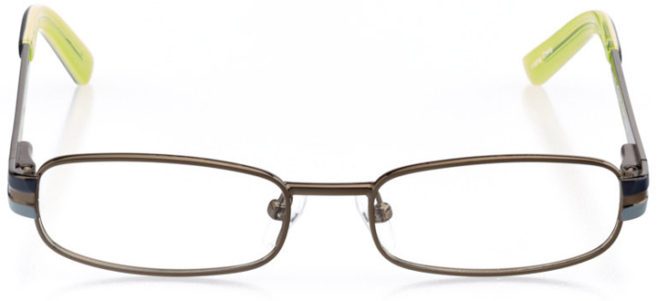 victoria: boys' rectangle eyeglasses in gray - front view