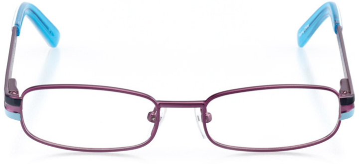 victoria: girls' rectangle eyeglasses in purple - front view