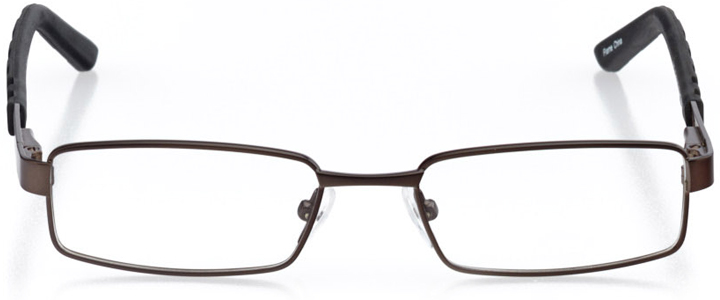 trenton: boys' rectangle eyeglasses in gray - front view