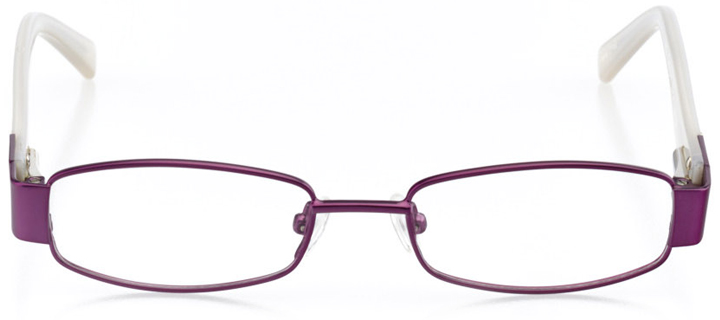 tampa: girls' rectangle eyeglasses in purple - front view