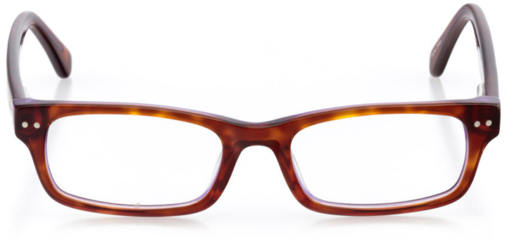 riverside: girls' rectangle eyeglasses in purple - front view