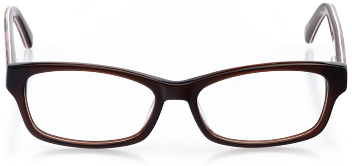 richmond: boys' rectangle eyeglasses in brown - front view