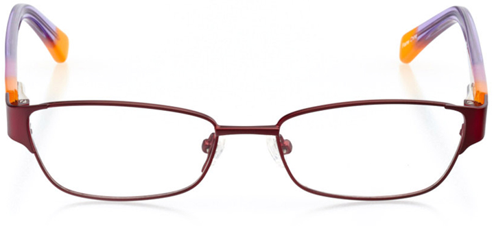 ventura: girls' rectangle eyeglasses in red - front view