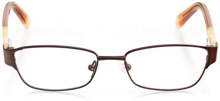 ventura: girls' rectangle eyeglasses in brown - front view