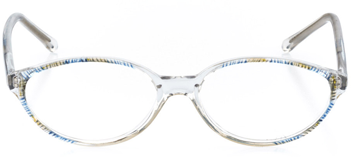 marbella: women's oval eyeglasses in crystal - front view