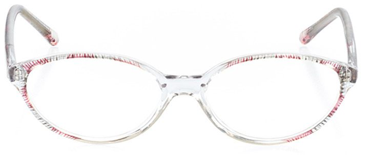 marbella: women's oval eyeglasses in pink - front view