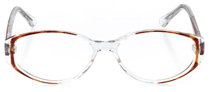 bexhill: women's oval eyeglasses in brown - front view