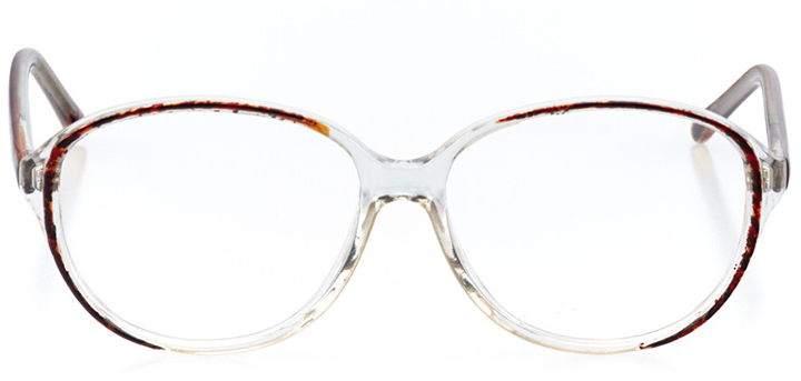 pamplona: women's square eyeglasses in crystal - front view