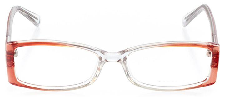 harlow: women's rectangle eyeglasses in pink - front view