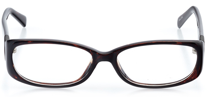 oxford: women's oval eyeglasses in tortoise - front view