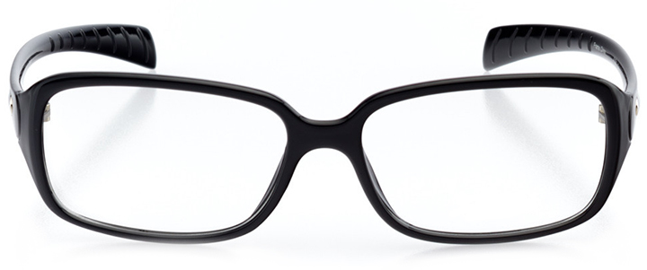 salzburg: women's rectangle eyeglasses in black - front view