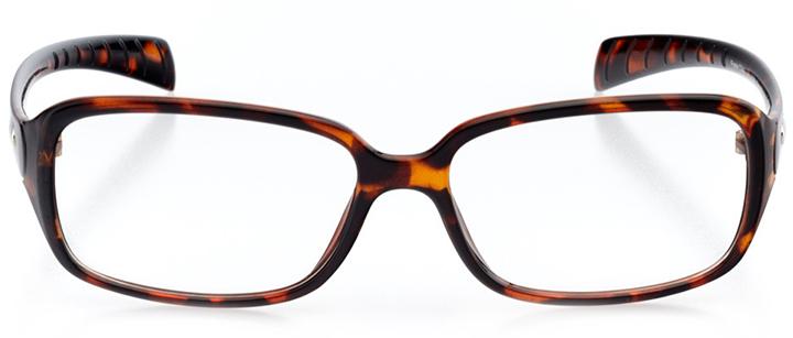 salzburg: women's rectangle eyeglasses in tortoise - front view