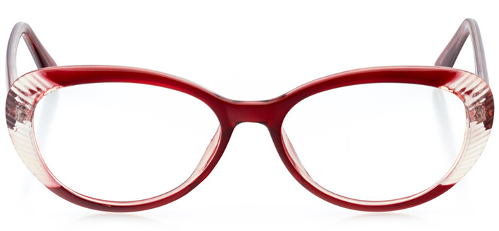 adelaide: women's cat eye eyeglasses in red - front view