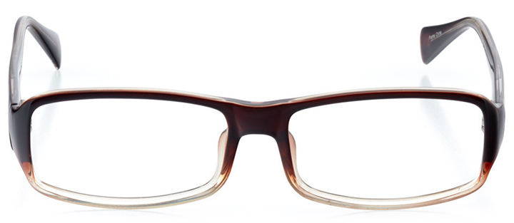 zürich: men's rectangle eyeglasses in black - front view