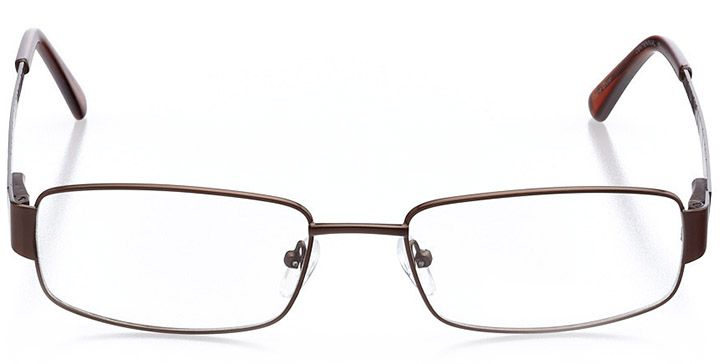 whistler: men's rectangle eyeglasses in brown - front view