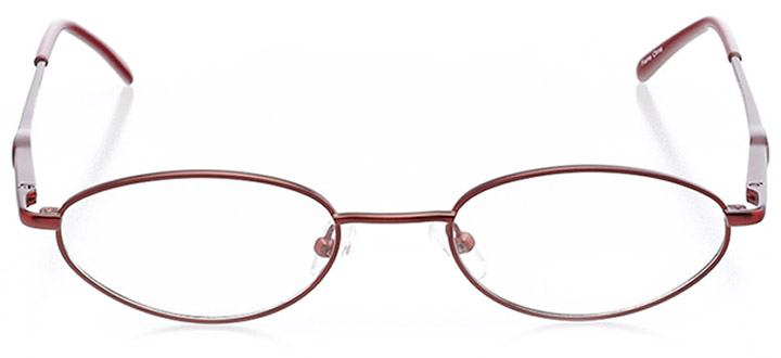 catalina: women's oval eyeglasses in red - front view