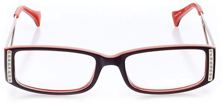 birmingham: women's rectangle eyeglasses in red - front view