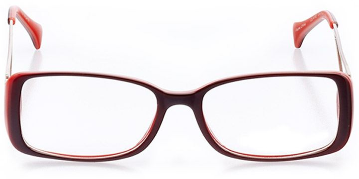 cape coral: women's rectangle eyeglasses in red - front view