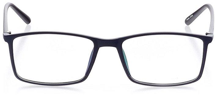 kingsland: men's rectangle eyeglasses in blue - front view