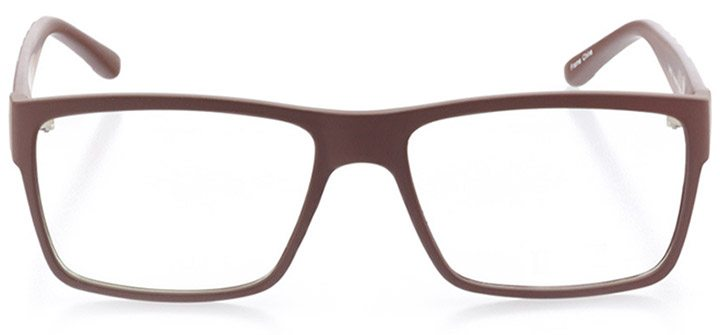 capitol hill: men's square eyeglasses in brown - front view