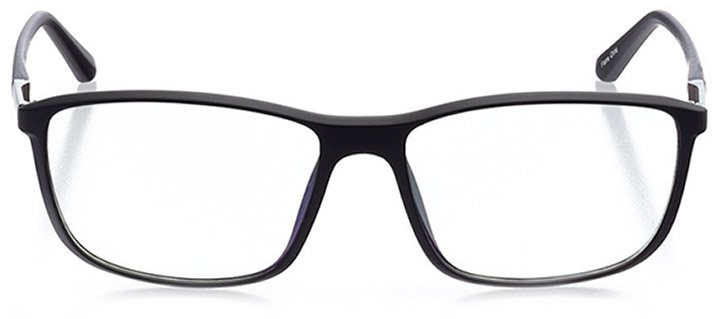 cusco: men's rectangle eyeglasses in black - front view