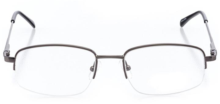 boston: men's rectangle eyeglasses in gray - front view