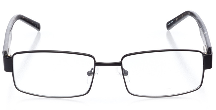 chapel hill: men's square eyeglasses in black - front view