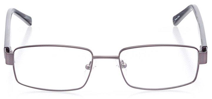 brimfield: men's rectangle eyeglasses in gray - front view