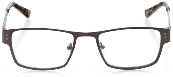 oakland: men's rectangle eyeglasses in gray - front view