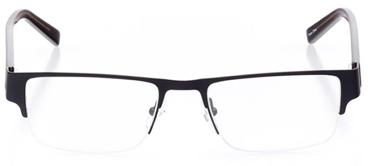 everett: men's rectangle eyeglasses in black - front view