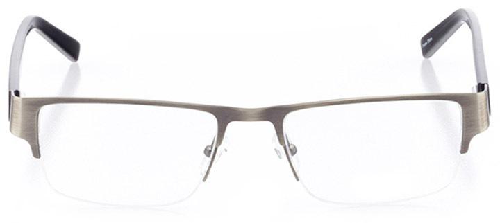 everett: men's rectangle eyeglasses in gray - front view