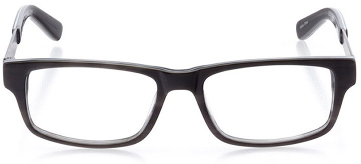 palo alto: men's rectangle eyeglasses in gray - front view