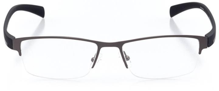 leiden: men's rectangle eyeglasses in gray - front view