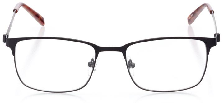 singapore: men's square eyeglasses in black - front view
