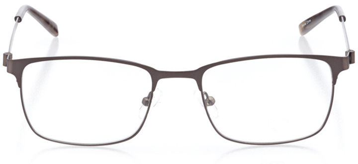 singapore: men's square eyeglasses in gray - front view