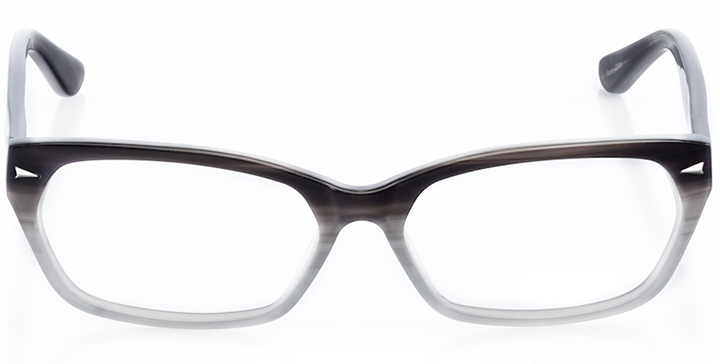 columbus: rectangle eyeglasses in gray - front view